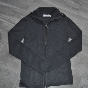 NWOT Zara Zip Front Sweater